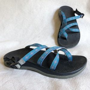 Chaco Tagu in teal and blue sandals